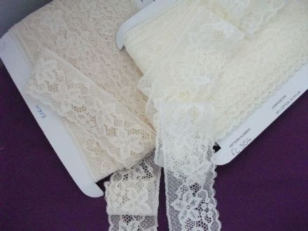 Exclusive English Nottingham Cotton Cluny Lace Vintage style - Ecru FC354 Bridal